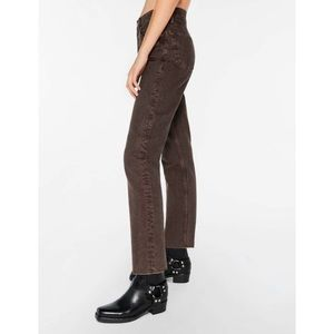 Re Done High Rise Stove Pipe Straight Leg Jeans